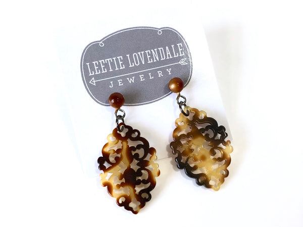 modern tortoise earrings