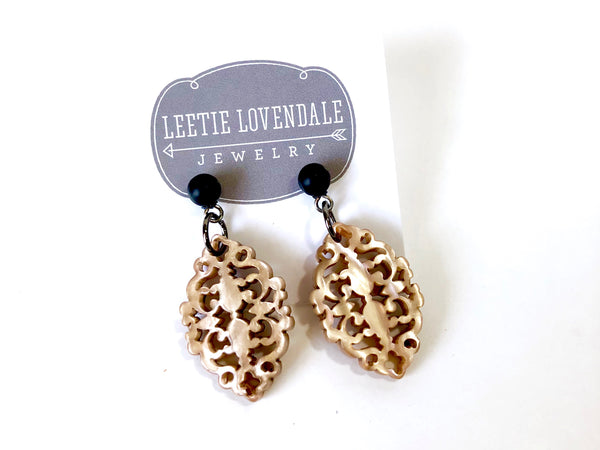 toasted marshmallow earrings