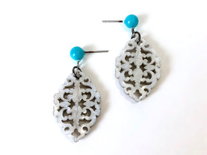 silver moonglow earrings