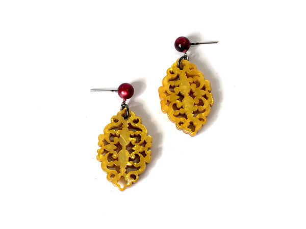 gold moonglow earrings