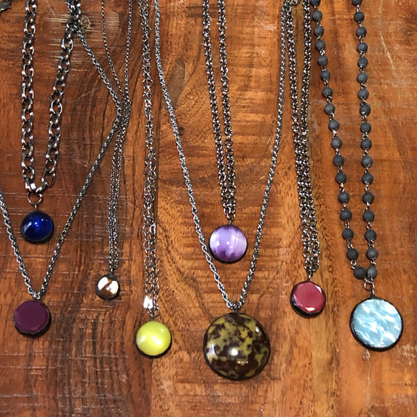 lucite layering necklaces
