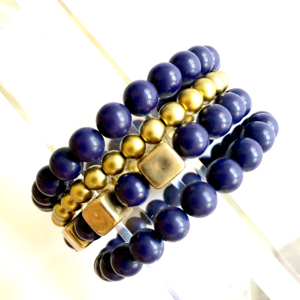 dark navy blue bracelets