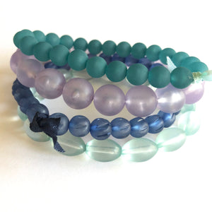 frosted lucite bracelets