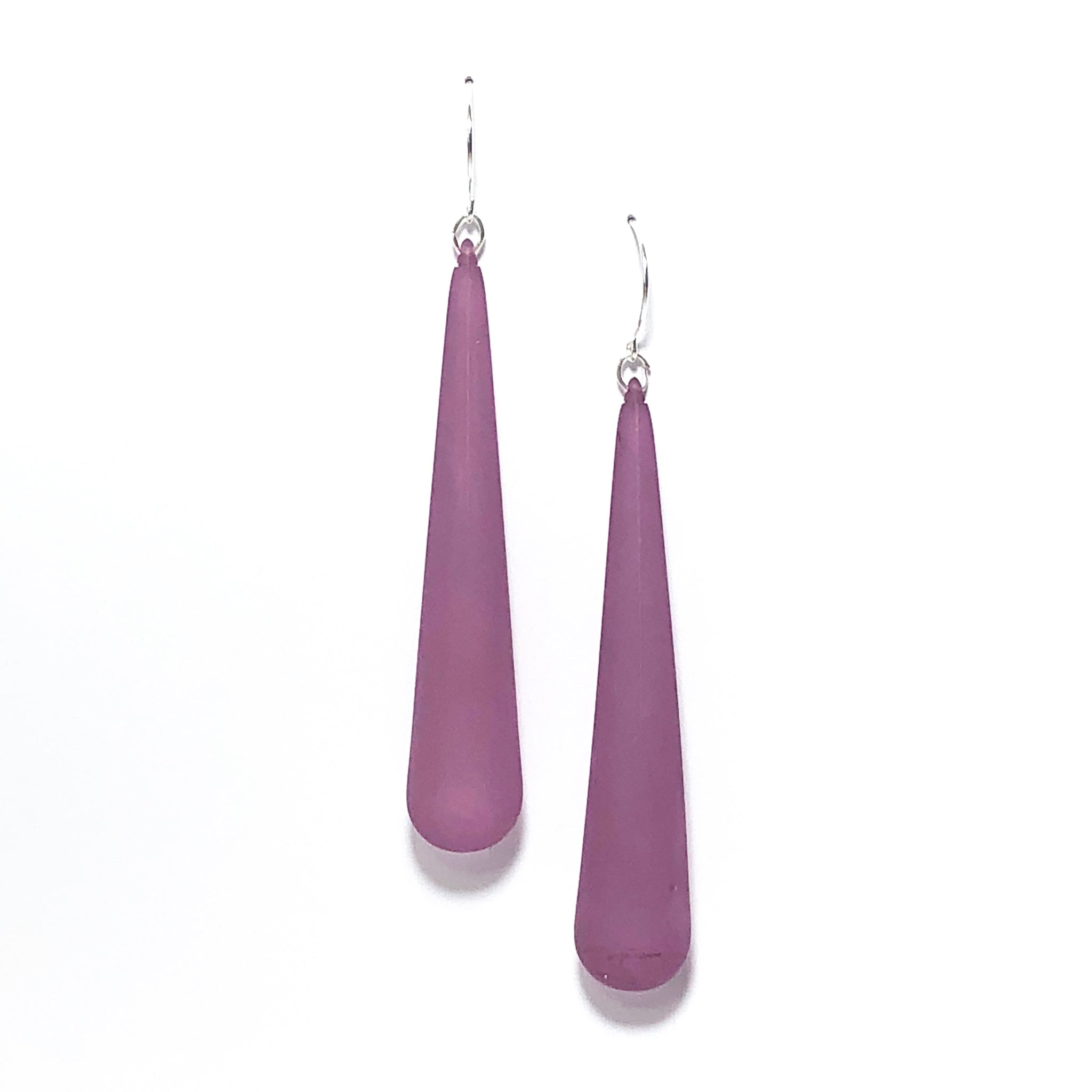purple teardrop earring