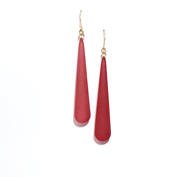 cranberry earrings long