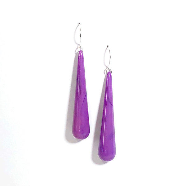 violet earrings
