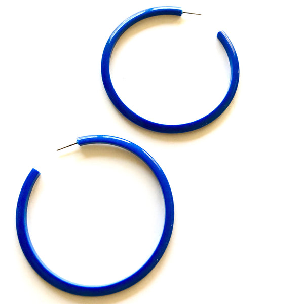 deep blue bangle hoops