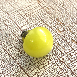 Yellow Moonglow Dot Lapel Pin