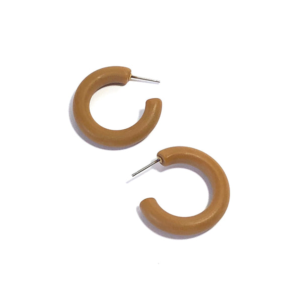 camel brown hoops