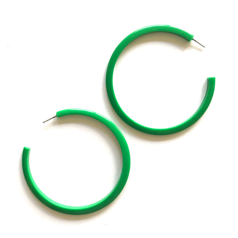 kelly green bangle hoops