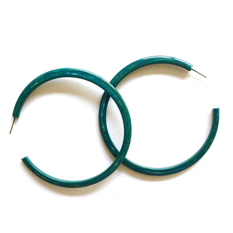 marbled teal hoops