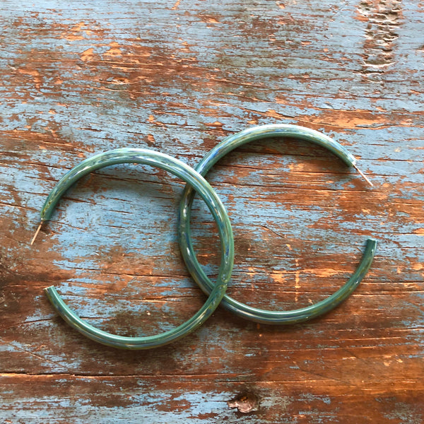 teal bangle hoops