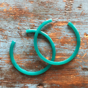 petrol green hoops