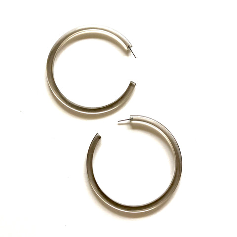 large grey hoop earrings