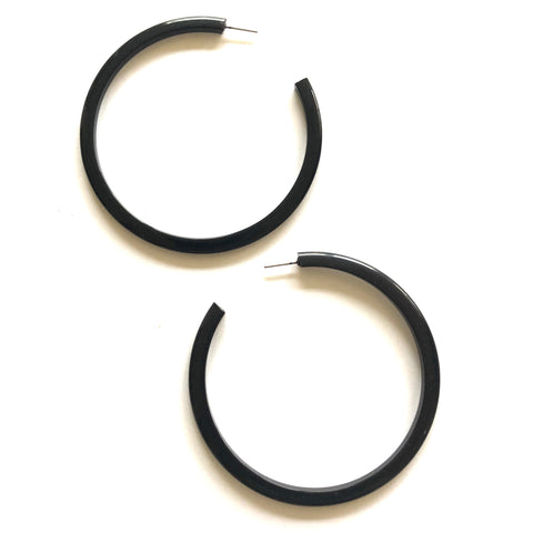 huge black hoop earrings