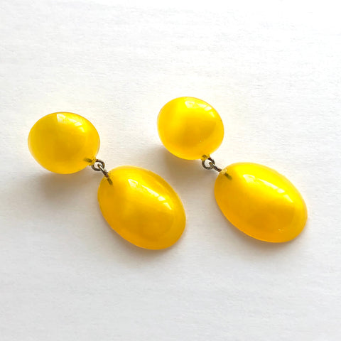 Yellow Aura Glow Jelly Bean Earrings
