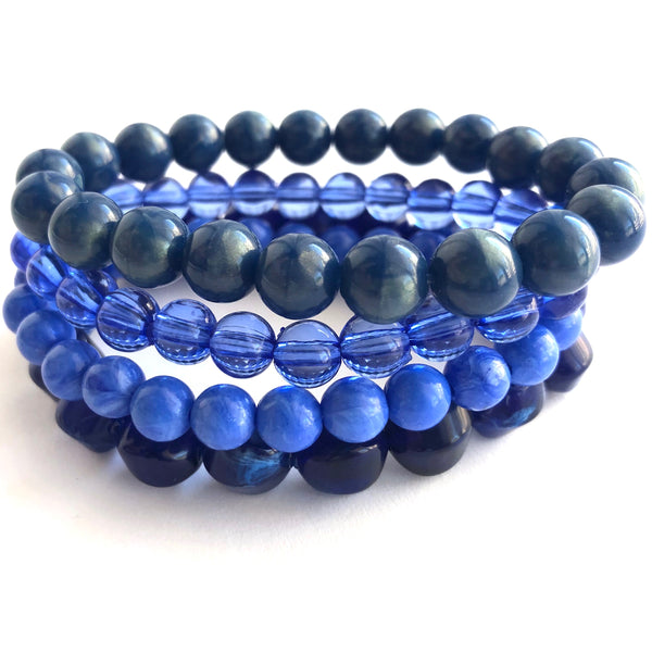 denim blue bracelets