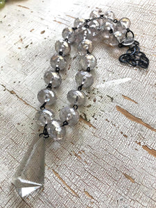 Crystal Luster & Cut Glass Beaded Aleta Necklace