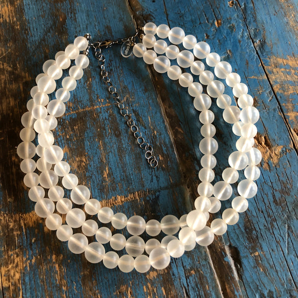 chunky clear necklace