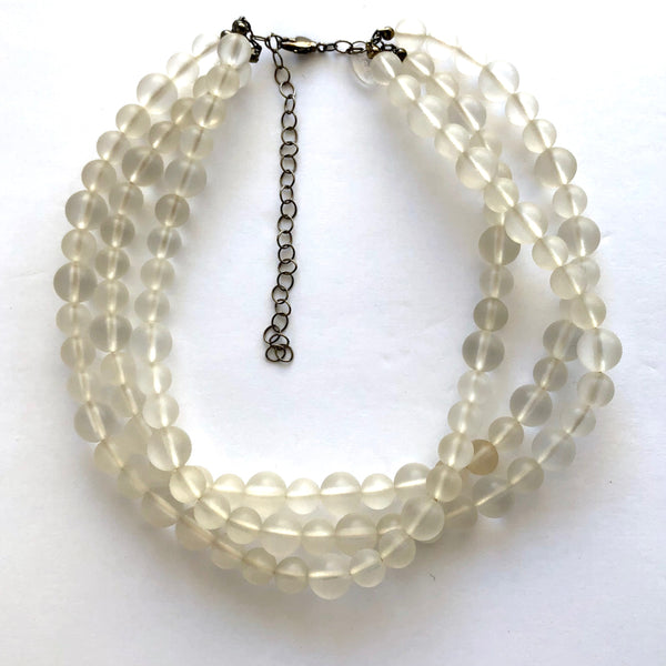 clear chunky necklace