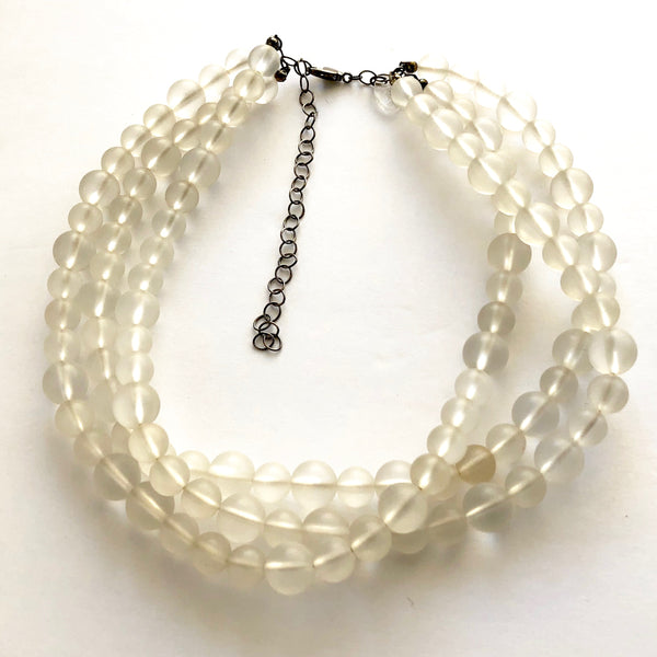 frosted clear acrylic necklace