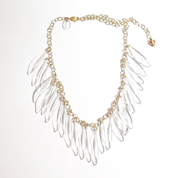 clear jingle necklace
