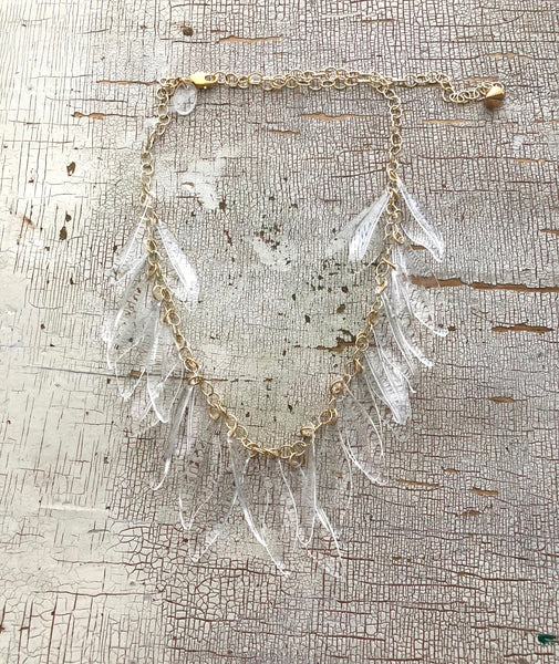 clear leaf necklace
