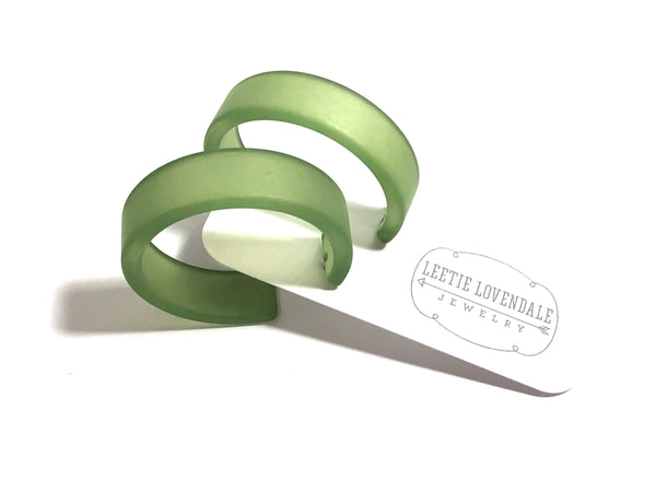 large portland hoops green