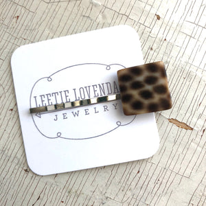 Leopard Print Square Hairpin