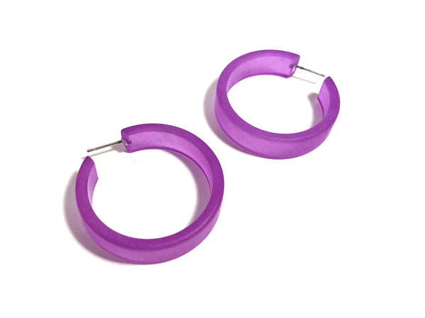 big purple hoops
