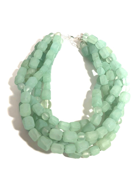 pastel green necklace