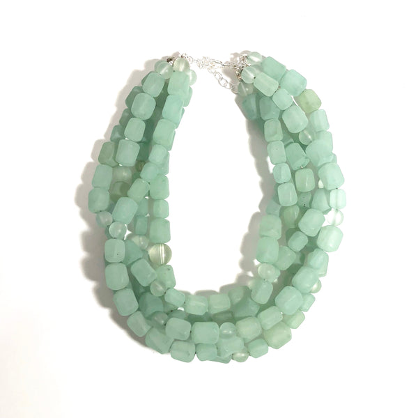 vintage green necklace