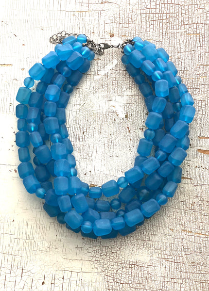 aqua blue sylvie necklace