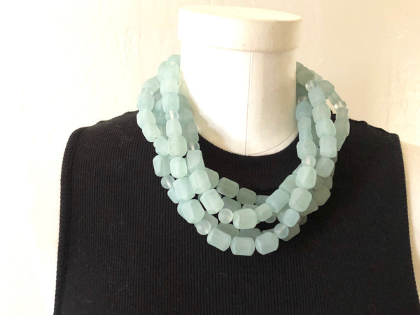 adjustable teal necklace