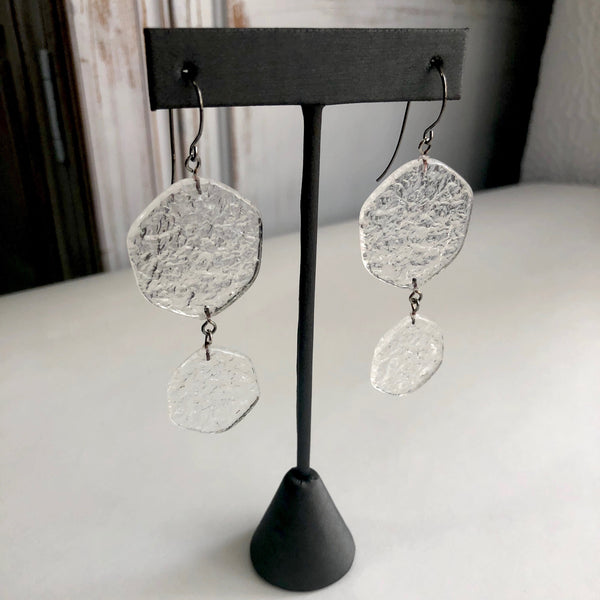 clear double earrings