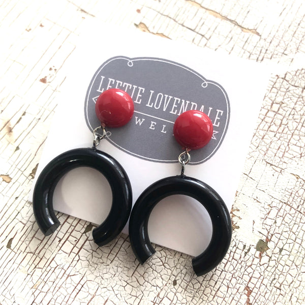 black lucite earrings