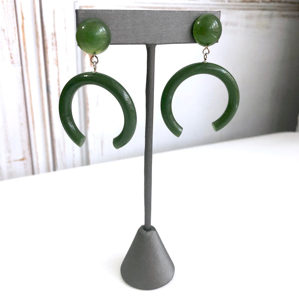 moss green earrings