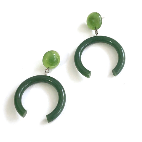 jade green earrings