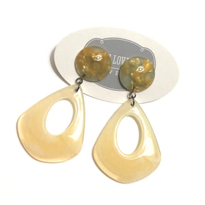 Marbled Cream & Golden Fleck Mimi Earrings