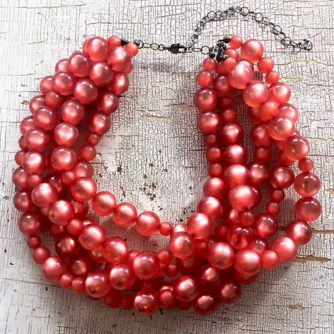 coral moonglow necklace
