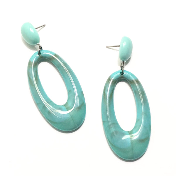 marbled acrylic statement earrings