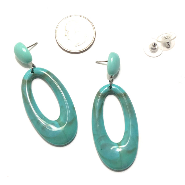 turquoise oval earrings