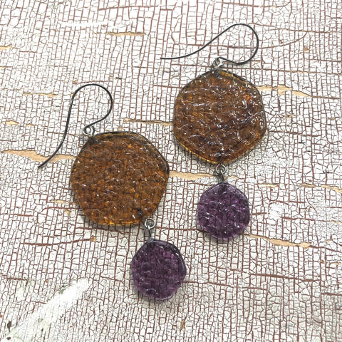smoke drop earrings