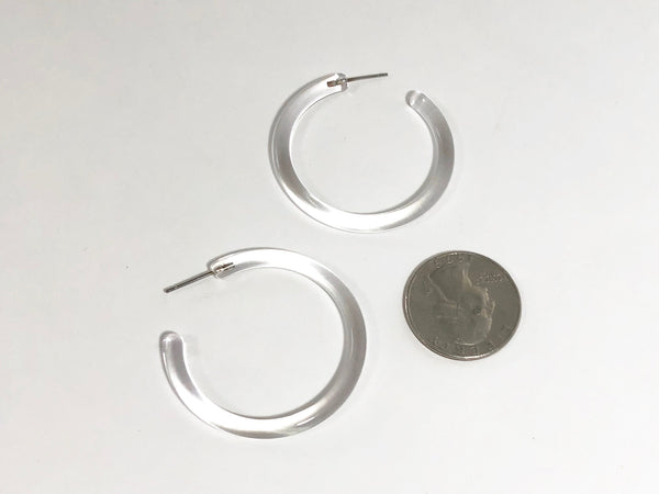 clear earrings lucite