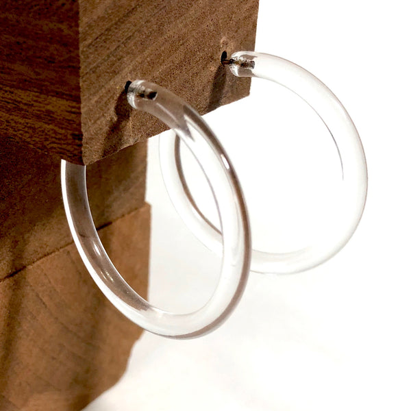 clear hoop earrings lucite