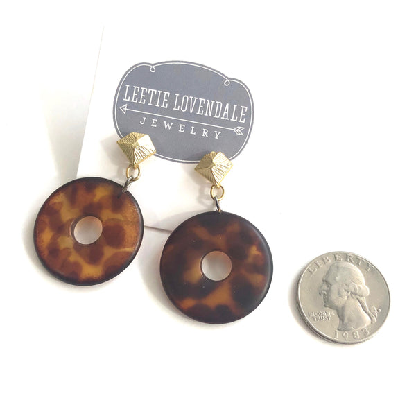 matte tortoise earrings