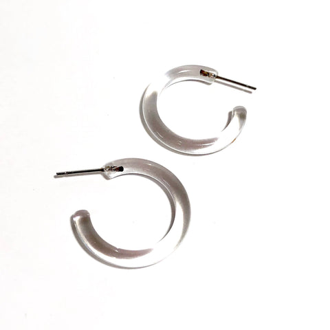 clear hoop earrings transparent