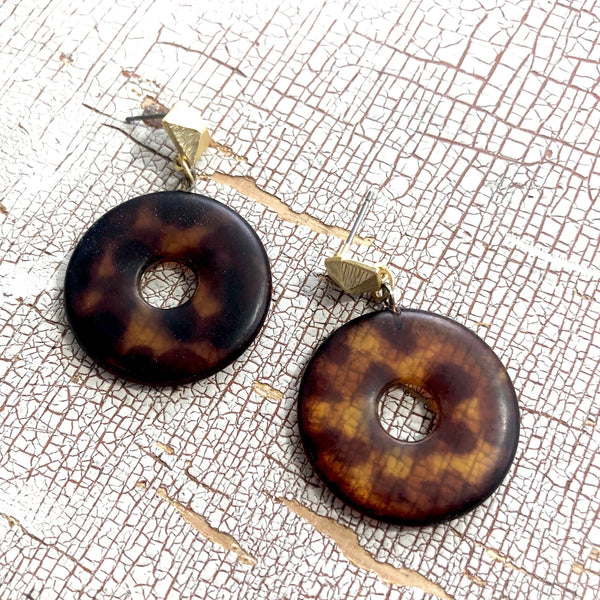 tortoise go go earrings