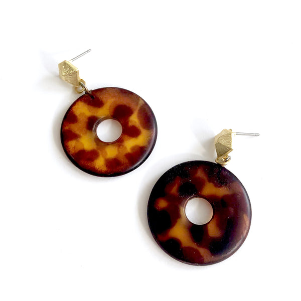 tortoise lucite earrings