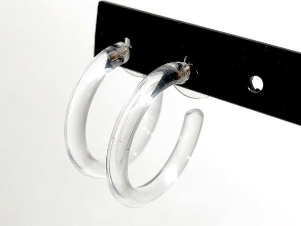 clear transparent hoop earrings